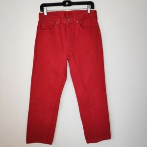 VTG Levi's 501 Red Button Fly High Rise Jeans 32